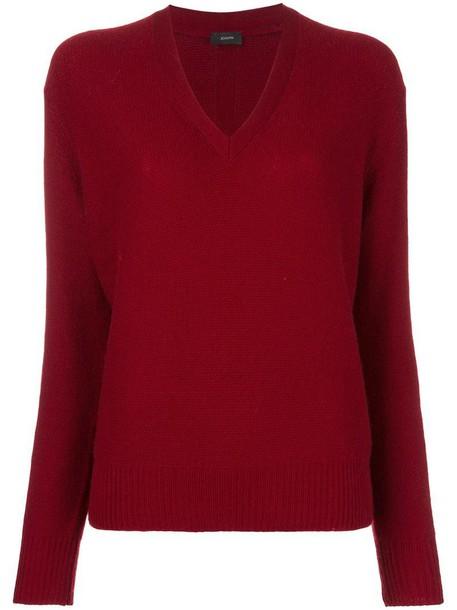 Joseph jumper women red sweater