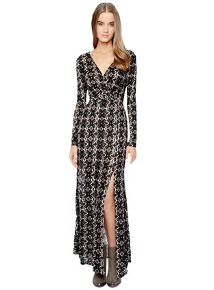 Joella Wrap Maxi Dress