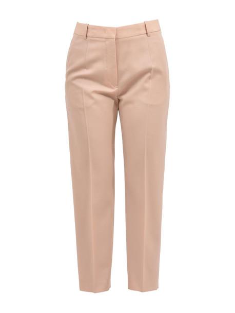 Jil Sander Enea Fleece Wool Pants in peach