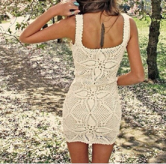 dress lace dress cream dress patterned dress