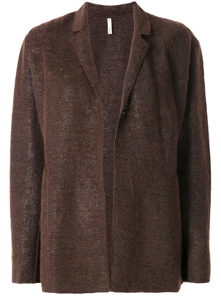 Boboutic - open cardigan - women - Cotton/Polyamide/Polyurethane/Wool - S, Brown, Cotton/Polyamide/Polyurethane/Wool