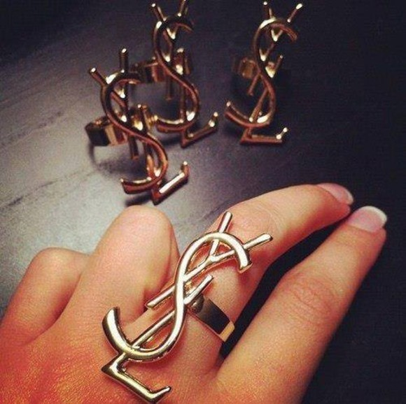 cuff jewels ring gold ysl jewelry brand