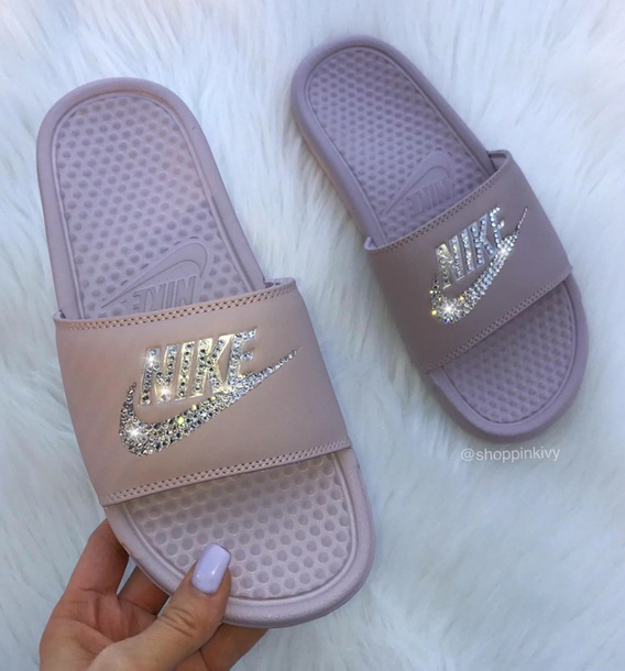 391789d6aee9e1 shoes light purple light pink slide shoes nike slides nike