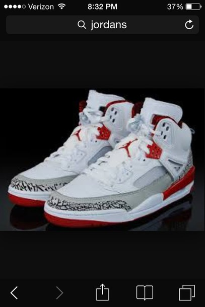 shoes gray nd red spikes jordanns