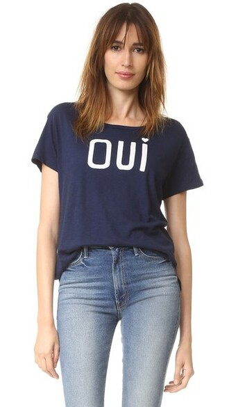 loose navy top