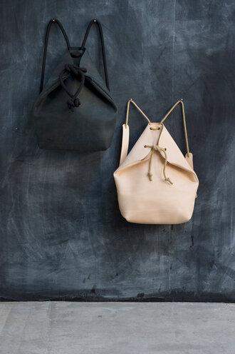 bag lether sak backpack black leather leather backpack