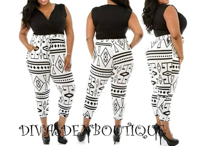 TRIBAL - PLUS SIZE JUMPSUIT