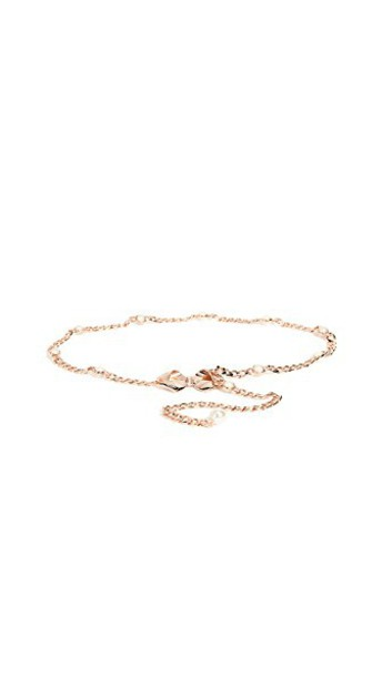 Kate Spade New York bow pearl belt rose gold rose gold