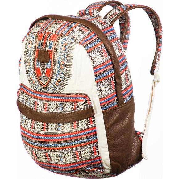 billabong bag backpack patterened