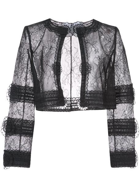 jacket sheer women lace black
