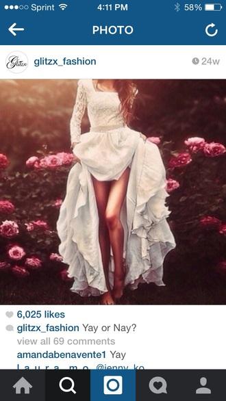 dress white dress fashion