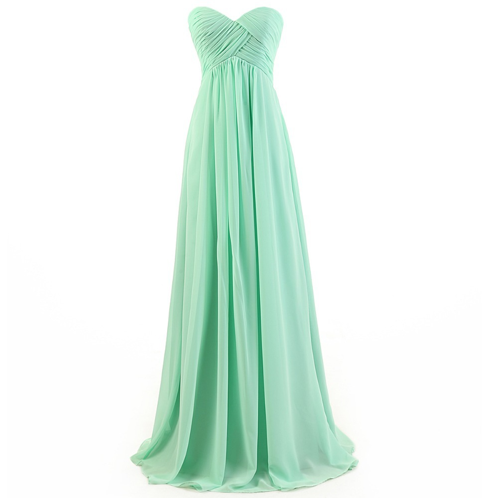 Aliexpress.com : Buy Fresh Whole Sale Cheap Bridesmaid Dresses 2015 vestido de festa Mint Sweetheart Long Chiffon Bridesmaid Dress With Fast Shipping from Reliable dress classy suppliers on DressHome
