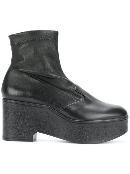 Robert Clergerie women ankle boots leather black shoes