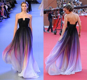 dress elie saab ombre dress purple gown