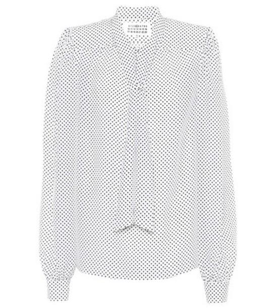 MAISON MARGIELA blouse silk white top