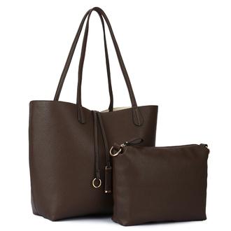 bag women fashion pu clemence 2 pieces shoulder bag shoulder bag coffee women fashion girl lady 2 pieces bags soft pu street