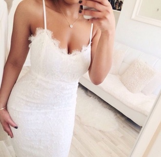 dress lace dress white dress romantic