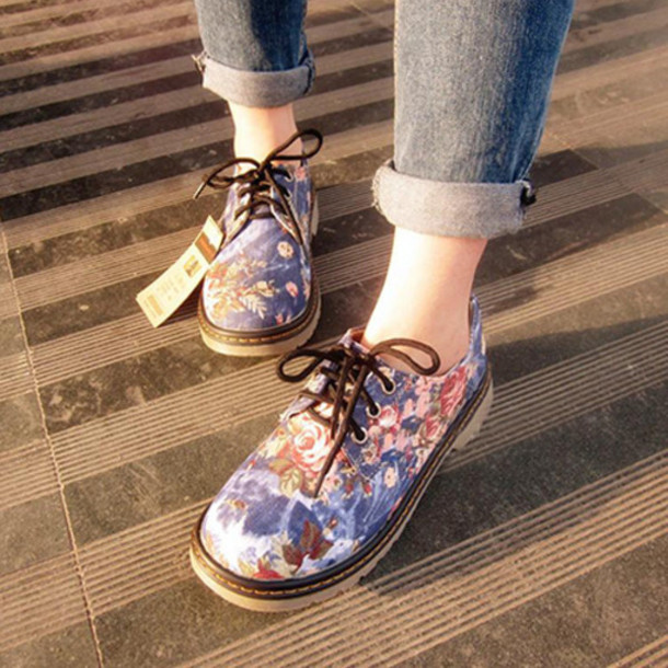 Shoes Fahsion Floral Cute Preppy Cool New Girl New Classy Beautiful Girl Women