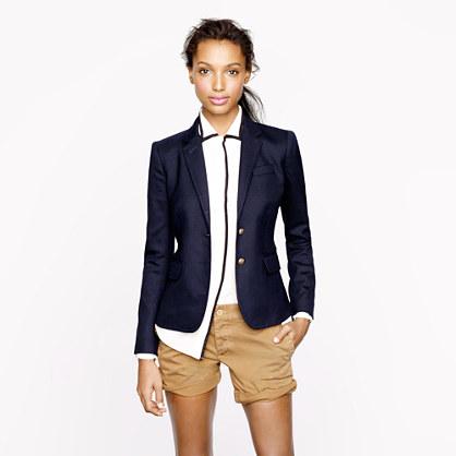 blazer in navy - schoolboy - Women's *blazers - J.Crew