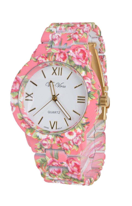 Amazon.com: flower style women watch, hotpink: watches