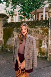 gal meets glam,blogger,jacket,t-shirt,skirt,shoes,bag,blazer,fall outfits