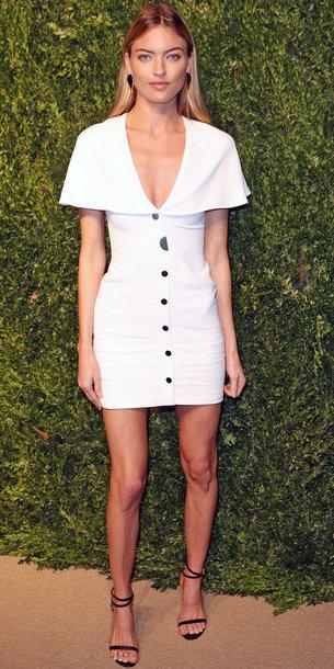 dress mini dress white white dress martha hunt model off-duty