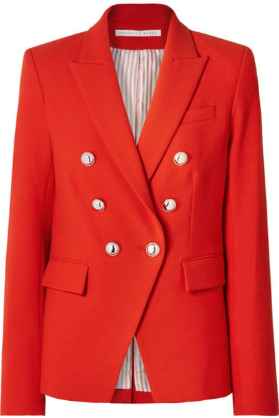 Veronica Beard - Miller Dickey Double-breasted Cady Jacket - Red