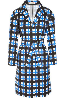 Marni Checked taffeta coat - 50% Off Now at THE OUTNET
