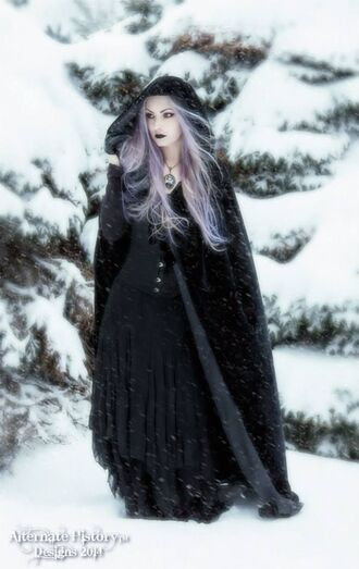 coat goth hipster goth gothic lolita gothic dress mantle black dark dress fantasy witch halloween