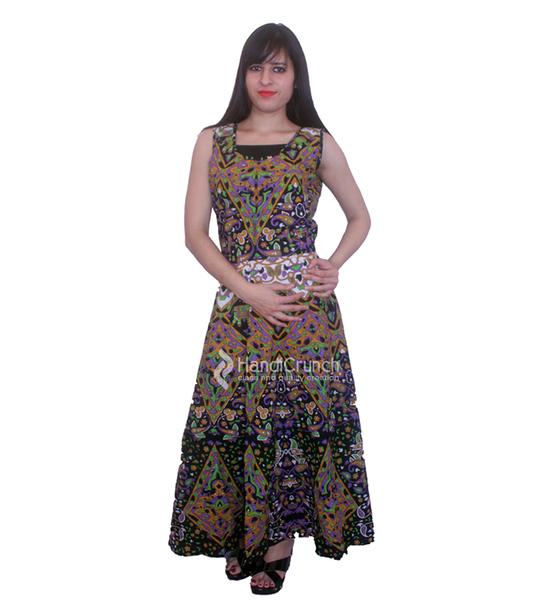 dress, evening mandala gown, dark green long gown, maxi dress ...