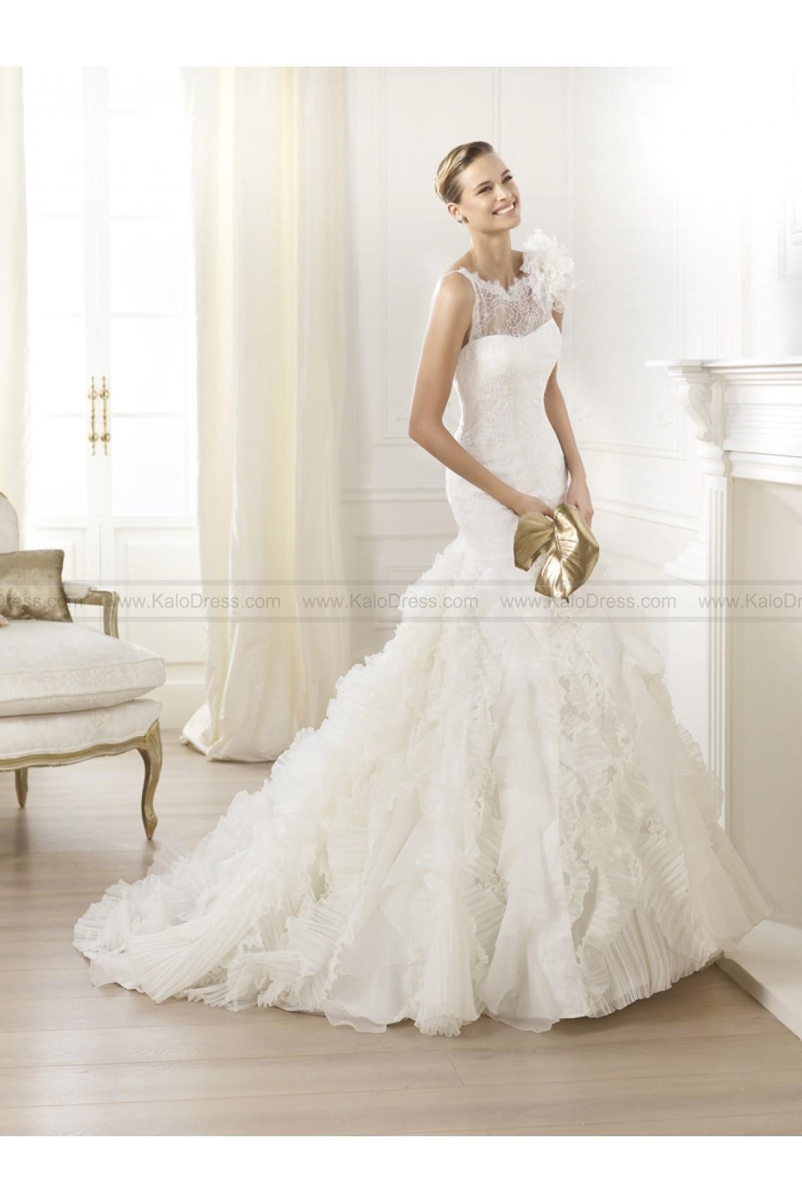 Pronovias Wedding Dresses - Style Leandra - Wedding Dresses 2014 New - Formal Wedding Dresses