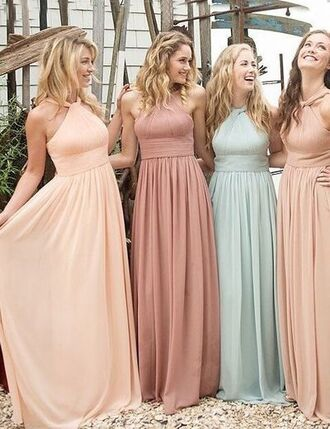 dress long bridesmaid dress halter bridesmaid dress custom made bridesmaid dress cheap bridesmaid dress chiffon bridesmaid dress free vibrationz