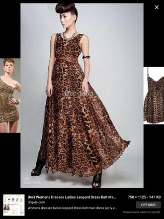 dress maxi dress leopard print animal print