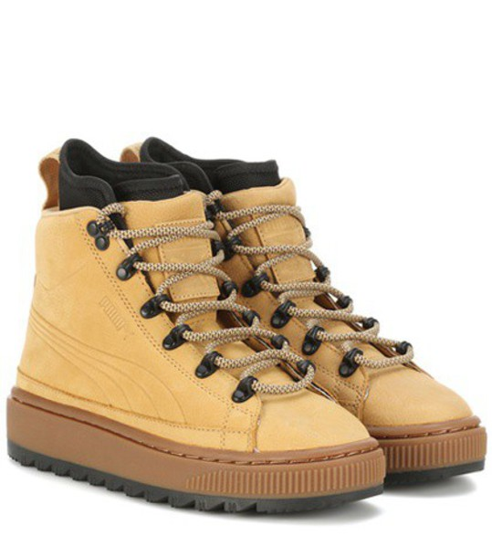 puma leather ankle boots ankle boots leather beige shoes