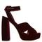 Velvet block-heel platform sandals | miu miu | matchesfashion.com us