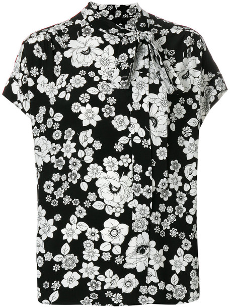 BOUTIQUE MOSCHINO blouse women floral black top