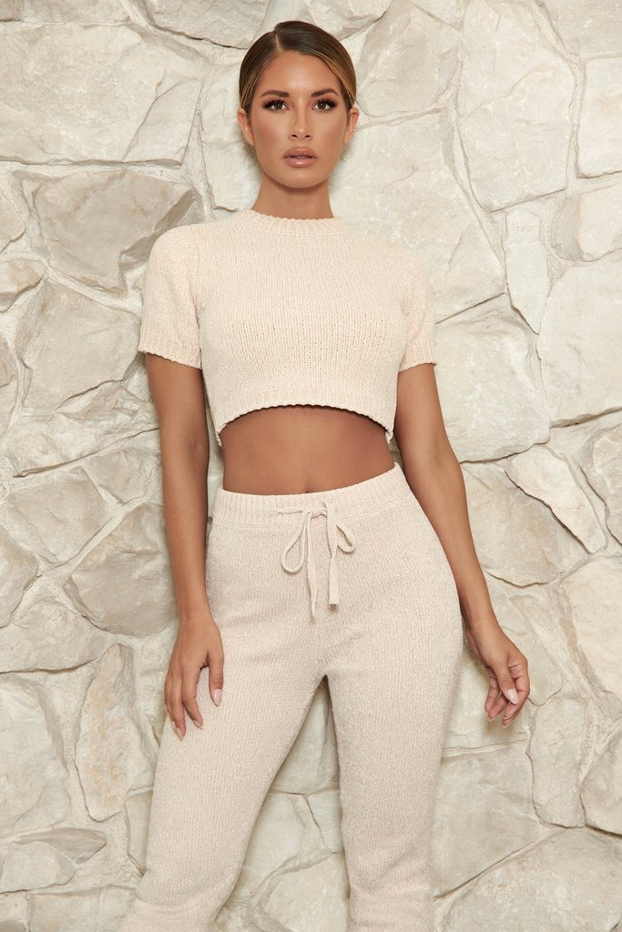 Carmela Chenille T-Shirt - Cream
