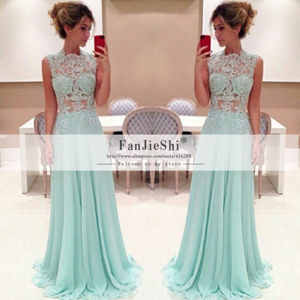 Sleeve Scoop Neckline Appliques Hot Sale Chiffon Long A Line Prom Dresses From Reliable Dress Up Games Children Suppliers On Suzhou FanJieShi Wedding