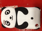phone cover,white~panda ~case,dress