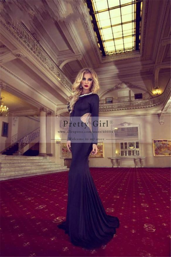 com : Buy Fashionable Long Black Mermaid Evening Dresses 2015 ...