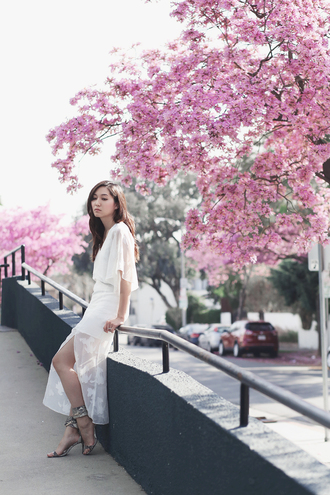 clothes to midnight blogger jewels dress white dress spring outfits spring dress sandals