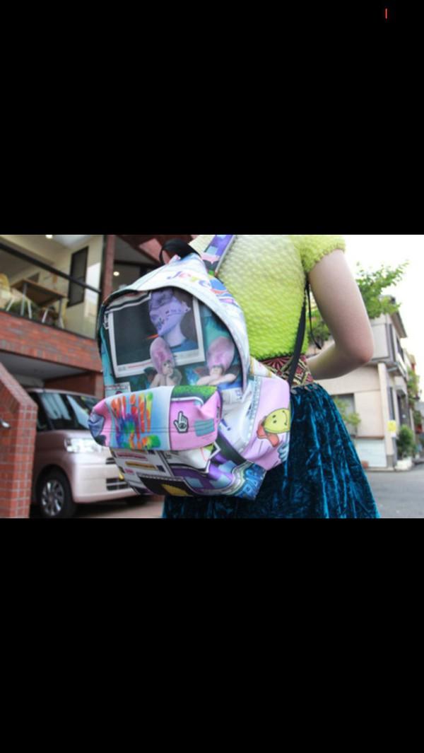 bag school bag hippie 90s style