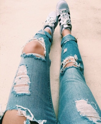 jeans blue ripped jeans destroyed skinny jeans light blue ripped jeans with holes big holes jeans