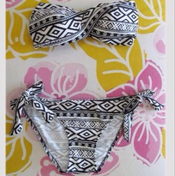 swimwear aztec tribal pattern