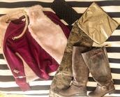 jeans,army jeans,sweatshirt,faux fur vest,combat boots,pants,shoes