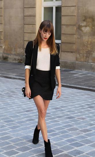into your closet blogger black blazer