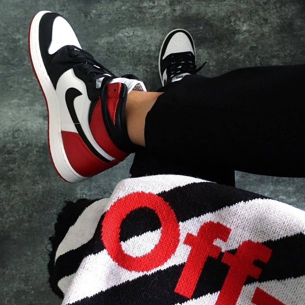 shoes nike shoes black white red