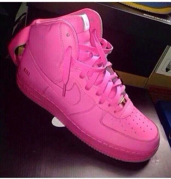 shoes pink sneakers uptown nike nike pink up towns nike all pink girl girly