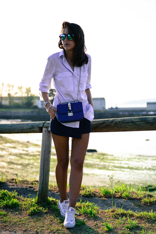 lovely pepa skirt shirt shoes bag jewels sunglasses shorts