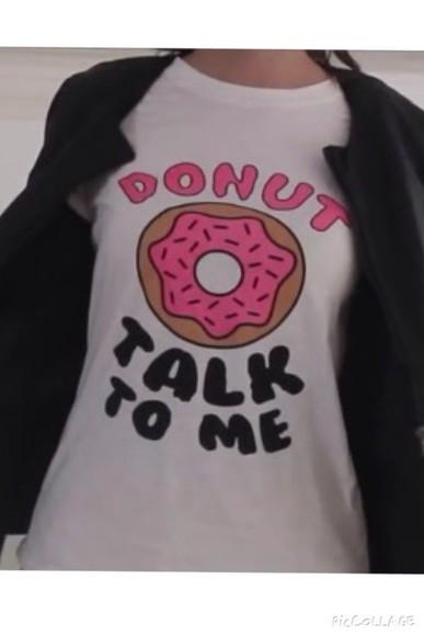 food t-shirt donut marzia cutiepiemarzia youtube youtuber cool funny tee-shirt style
